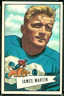 Jim Martin 1952 Bowman Large football card