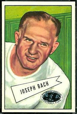 Joe Bach 1952 Bowman Large football card