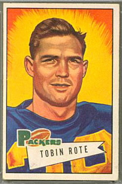 Tobin Rote 1952 Bowman Large football card