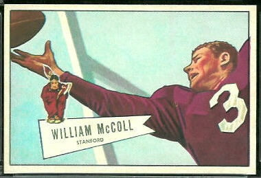 Bill McColl 1952 Bowman Large football card