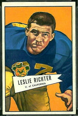 Les Richter 1952 Bowman Large football card