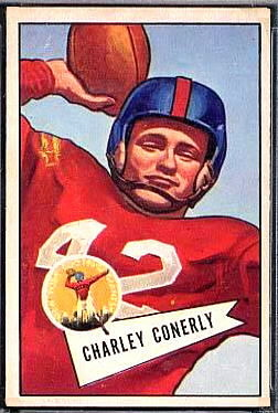 Charley Conerly 1952 Bowman Large football card