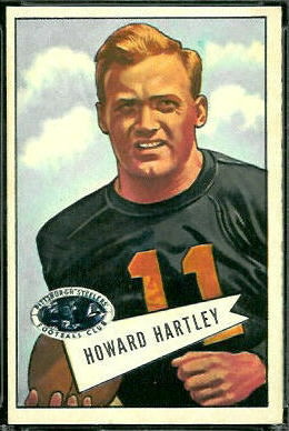 Howard Hartley 1952 Bowman Large football card