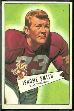 Jerome Smith 1952 Bowman Large football card