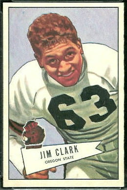Jim Clark 1952 Bowman Large football card
