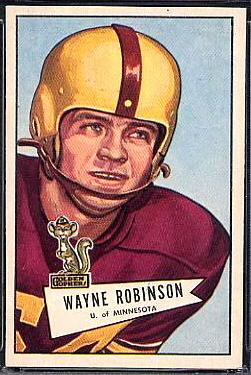Wayne Robinson 1952 Bowman Large football card