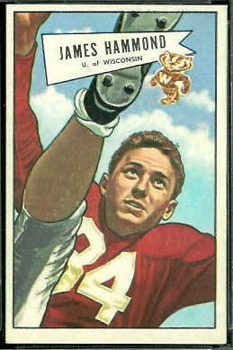 James Hammond 1952 Bowman Large football card
