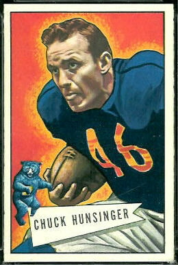 Chuck Hunsinger 1952 Bowman Large football card