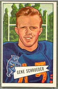 Gene Schroeder 1952 Bowman Large football card