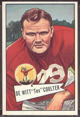 Tex Coulter 1952 Bowman Large football card