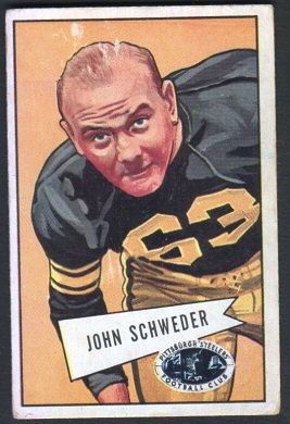 John Schweder 1952 Bowman Large football card