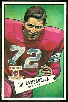 Joe Campanella 1952 Bowman Large football card