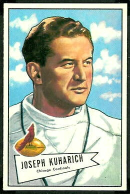 Joe Kuharich 1952 Bowman Large football card