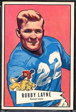 Bobby Layne 1952 Bowman Large football card