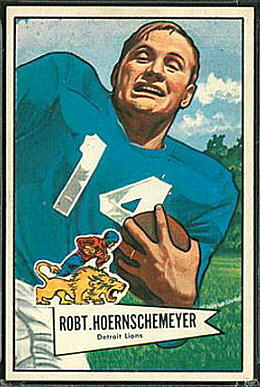 Bob Hoernschemeyer 1952 Bowman Large football card