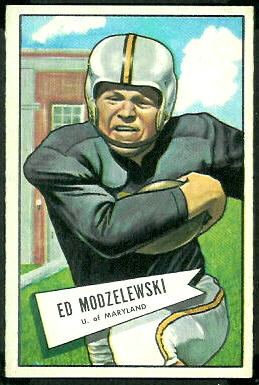 Ed Modzelewski 1952 Bowman Large football card