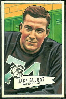 Jack Blount 1952 Bowman Large football card