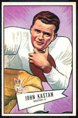 John Kastan 1952 Bowman Large football card