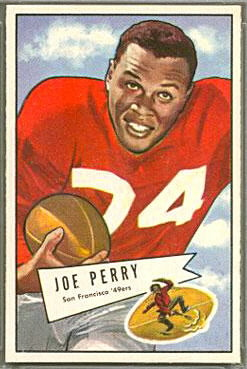 Joe Perry 1952 Bowman Large football card