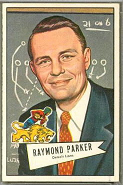 Buddy Parker 1952 Bowman Large football card