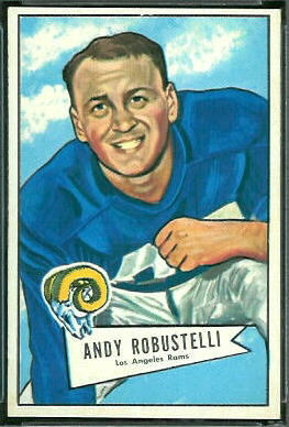 Andy Robustelli 1952 Bowman Large football card