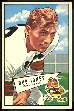 Dub Jones 1952 Bowman Large football card