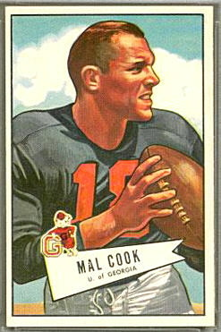 Mal Cook 1952 Bowman Large football card