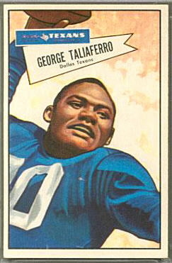 George Taliaferro 1952 Bowman Large football card