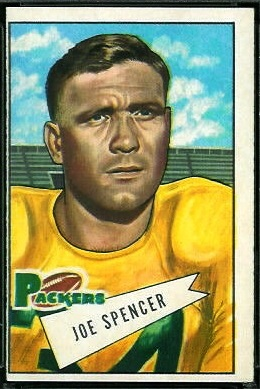 Joe Spencer 1952 Bowman Large football card