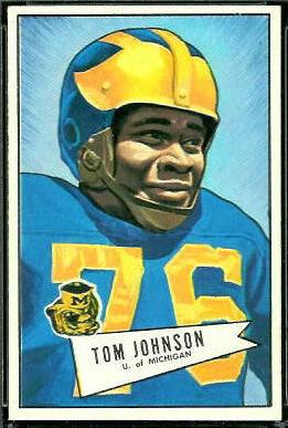 Thomas Johnson 1952 Bowman Large football card