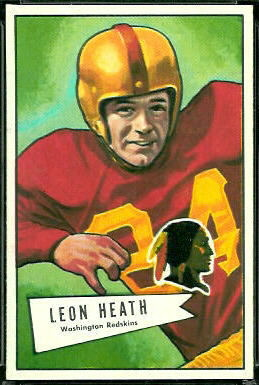Leon Heath 1952 Bowman Large football card