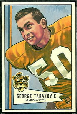 George Tarasovic 1952 Bowman Large football card