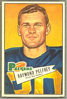Ray Pelfrey 1952 Bowman Small football card