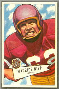 Maurice Nipp 1952 Bowman Small football card