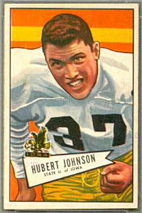 Hubert Johnston 1952 Bowman Small football card