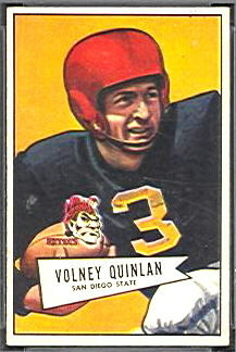 Volney Quinlan 1952 Bowman Small football card