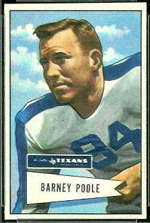 Barney Poole 1952 Bowman Small football card