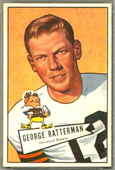 George Ratterman 1952 Bowman Small football card