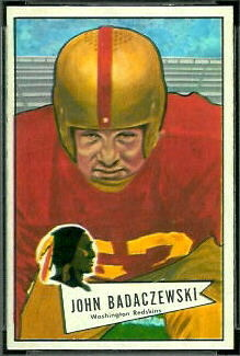 John Badaczewski 1952 Bowman Small football card