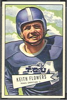 Keith Flowers 1952 Bowman Small football card
