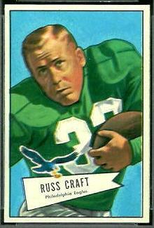 Russ Craft 1952 Bowman Small football card