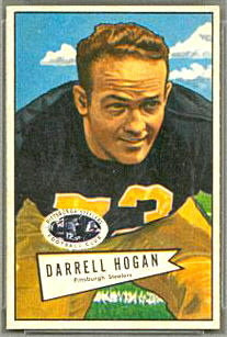 Darrell Hogan 1952 Bowman Small football card