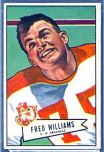 Fred Williams 1952 Bowman Small football card