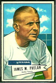 Jim Phelan 1952 Bowman Small football card