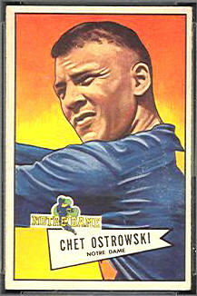 Chet Ostrowski 1952 Bowman Small football card