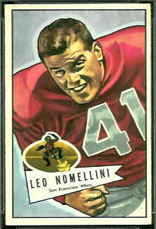 Leo Nomellini 1952 Bowman Small football card