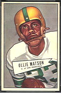 Ollie Matson 1952 Bowman Small football card