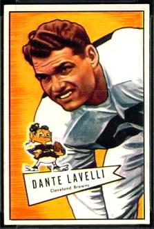 Dante Lavelli 1952 Bowman Small football card