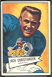 Jack Christiansen 1952 Bowman Small football card