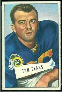 Tom Fears 1952 Bowman Small football card